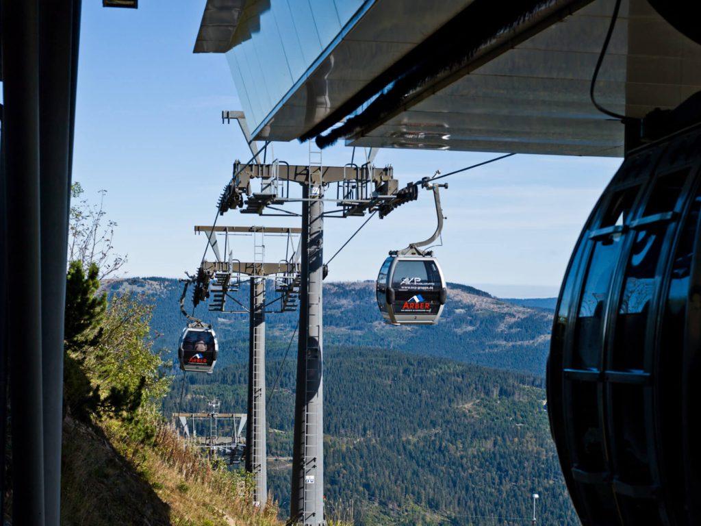 Bergbahn Skilift urbane Seilbahn